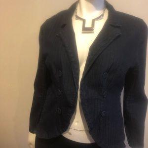 Ashley Stewart Denim Pinstripe Jacket Size 14